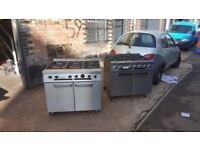 RESTAURANT CAFE INDIAN FALCON NATURAL GAS COOKER 6 RING With OVEN,FALCON DOMINATOR COOKER ON WHEELS