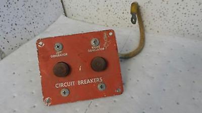 Aircraft Panel Circuit Breaker Left Generator Right Generator