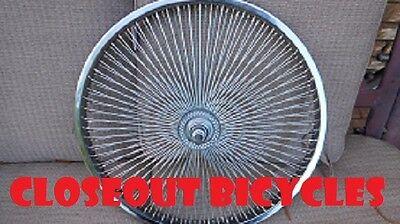 "LOW RIDER LOWRIDER BIKE BICYCLE 26"" 144 Spoke Front Wheel 14G Chrome"