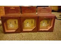 single brass sockets x3