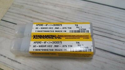 Lot Of 2 New Kennametal Drill Bit 5197563 K-2106bx .350-.375 Tin