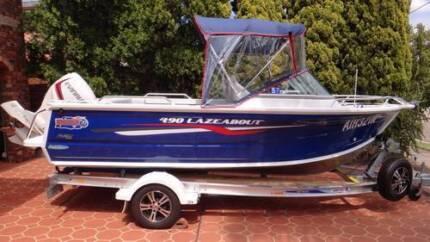 QUINTREX 490 Lazeabout boat 90 Horsepower EVINRUDE E-TEC May 2015 Oatley Hurstville Area Preview