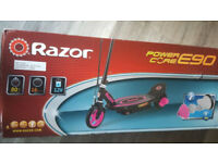 razor e90 electric scooter in great boxed condition - used once only to test