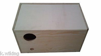 Nesting Box XXL 15 11/16in Wood for Large Parakeets and Small Parrots