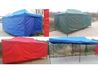 QUICK POP UP RECTANGLE GAZEBO WITH SIDE PANELS - 10FT X 20FT RED BARGAIN PRICE £200! RRP £600