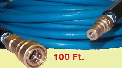Truckmount Machine Carpet Upholstery Cleaning Solution Hose - 100 Ft With Qds
