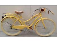 "Huffy 26"" Nel Lusso Women's Cruiser Bike, Yellow RRP 320.99 Lot 294"