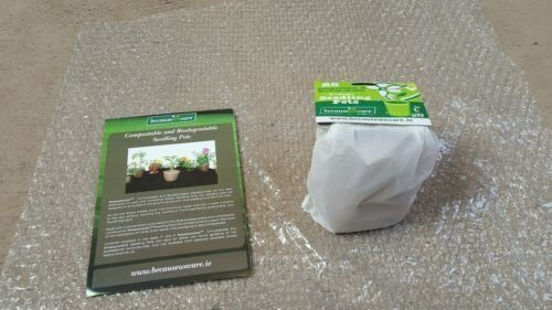 Pack of 25 compostable and biodegradable 8cm seedling pots