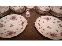 Various pieces of Hammersley fine bone china - Victorian Violets Pattern 11202 - can post