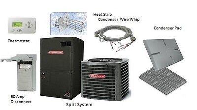 Goodman 3 Ton 14 SEER Heat Pump Split System GSZ140361 with Installation Kit (Heat Pump Goodman)