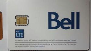 Bell Mobility Nano SIM Card 4G LTE Prepaid