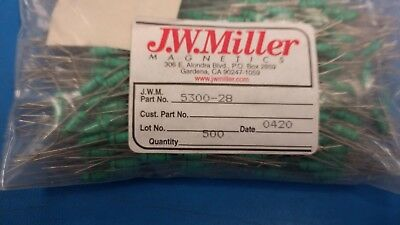 10 Pcs 5300-28 Jw Miller Fixed Rf Inductor 180uh 10
