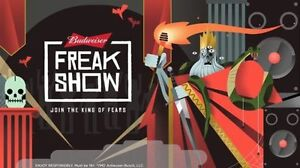 2 TICKETS BUDWEISER FREAK SHOW @ PEARL OCTOBER 28