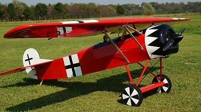 Giant 1 3 Scale Fokker D 8 Scratch Build R C Plane Plans  111 In  Wingspan