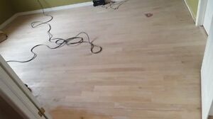 Hardwood and stairs sanding and staining team