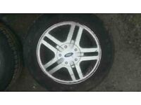 WANTED=A 15inch 4 STUD FORD WHEEL WITH TYRE 108PCD 195 60 15