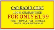 Car Radio Codes