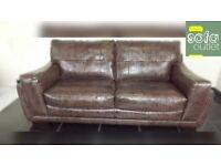 Designer mocha 3 seater sofa + chair + stool (348) £699