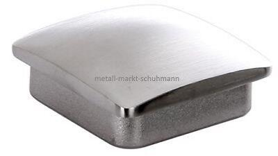 V2A Edelstahl Endkappe hohl, oval 4-kant für Rohre 40 x 40 x 2 mm - #1147