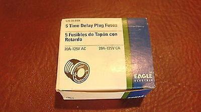 5 Eagle Electric 670-20 Time Delay Fuse Plug Box Of 5 670-20-box