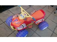 Fisher Price Power Wheels Dora Explorer Large kids quad, 12V battery operated