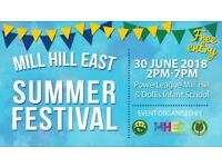 Mill Hill East Summer Festival - Stalls Available