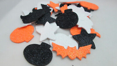 Darice Halloween 30 Glitter Foam Stickers - Bats, Pumpkins, Ghosts & - Halloween Foam Stickers