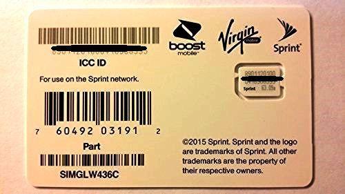 Sprint UICC Sim Card SIMGLW436C 4G LTE