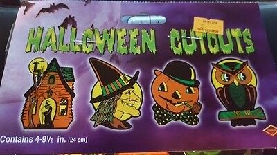 beistle vintage design halloween owl witch jack lantern haunted house