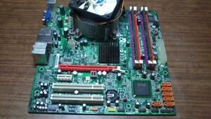 acer gm43 motherboard with a intel q6600 4gb ram no hdd or case