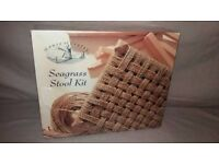 Make your own Seagrass Stool Kit by House of Crafts Brand New & Sealed