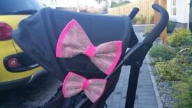 Big & small buggy hood bow set