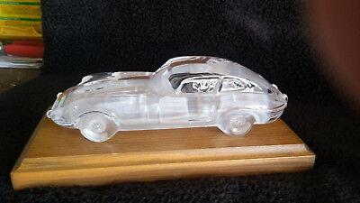 Hofbauer Frosted Crystal Jaguar 1950 E Type Car