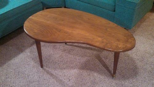 Kidney Shaped Coffee Table   EBay