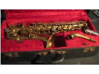 buescher true tone Vintage Alto Saxophone (Stencil)
