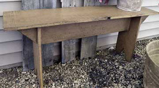 Primitive Olde Display Crock Bucket Bench Pattern WN134