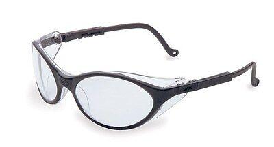Uvex Bandit Safety Glasses - Black Frame With Clear Lens