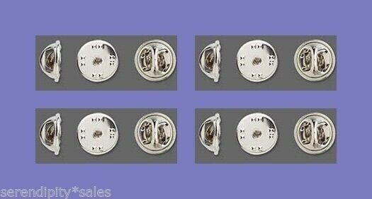 12 Replacement CLUTCH BACKS for Tie Tacks / Pins Silver ( Pinch Clutches )