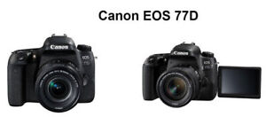 SALE SALE - BRAND NEW CANON EOS 77D WITH 18-135MM LENS KIT