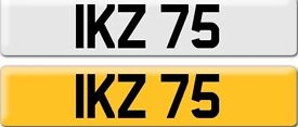 *IKZ 75* Dateless Personalised Cherished Number Plate Audi BMW M3 Ford VW Caddy Mercedes Vauxhall