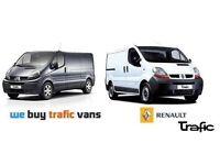 Specialists in buying Vauxhall vivaros, Nissan Primastars & Renault trafics