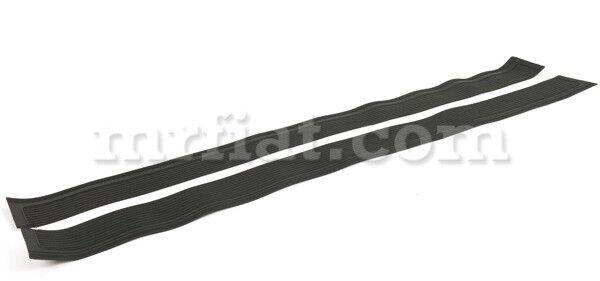 Mercedes W107 280 380 450 500 560 Sl Black Door Sill Cover Set 2 Pcs New