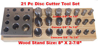21 Pc Disc Convex Concave Puncher Cutter 14 To 58