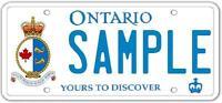 "Wanted Ontario ""CoastGuard"" graphic licence plates"