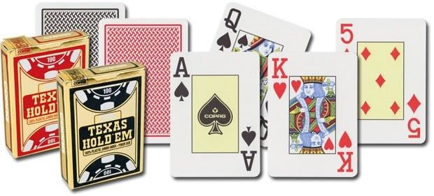 Copag Texas Holdem Poker Playing Cards 100 Plastic One Deck Ebay