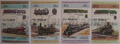 1984 NUI (Tuvalu) Set #1 Train Locomotive Railway Stamps (Leaders of the World)