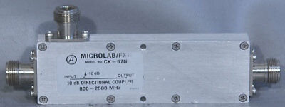 Microlabfxr Ck-67n Dual-section Wideband Air-line 10 Db Directional Coupler