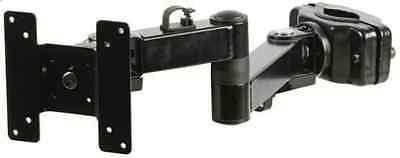 Mount Tft-lcd (BLACK TFT LCD POLE MOUNT BRACKET TWIN ARM 35MM VESA SCREEN DJ KARAOKE)