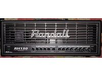 Randall RH150w Amp head, for electric guitar. 150w, stereo input, Clean OD1 OD2
