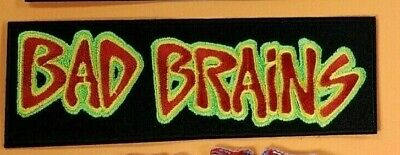 BAD BRAINS LOGO EMBROIDERED PATCH !